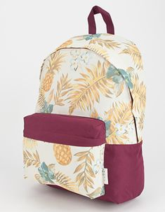 NEFF Pineapple Backpack Burgundy