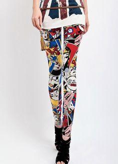 Comic Book print Legging