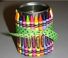 are you about to recycled them?DON'T THROW THEM away until you check out our Tin Can DIY Project Collection! Cup Crafts, Crafts For Kids, Tin Can Diy Projects, Pencil Holders For Desk, Tin Can Centerpieces, Diy Drums, Diy Crayons, Crayola, Crayon Holder