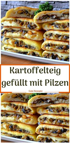 Kartoffelteig gefüllt mit Pilzen Potato batter filled with mushrooms, Batter # Lunch Meal Prep, Healthy Meal Prep, Veggie Meal Prep, Vegetarian Recipes, Healthy Recipes, Vegetarian Lifestyle, Prepped Lunches, Relleno, Yummy Cakes