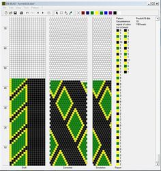 Pattern for beads Bead Crochet Patterns, Crochet Designs, Beading Patterns, Crochet Beaded Necklace, Crochet Rope, Handcrafted Jewelry, Handmade, Seed Bead Bracelets, Seed Beads