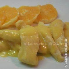Straccetti di pollo in salsa d'arancia