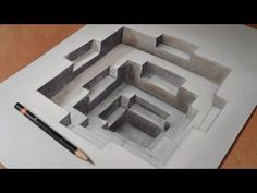 Drawing Awesome 3D Hole, Long Version - YouTube