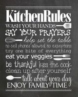 Kitchen Rules {free printable} - How to Nest for Less™
