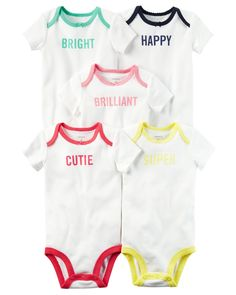 online shopping for Carter's Baby Girls' 5 Pack Short Sleeve Original Bodysuits, 3 Months from top store. See new offer for Carter's Baby Girls' 5 Pack Short Sleeve Original Bodysuits, 3 Months Toddler Outfits, Baby Boy Outfits, Kids Outfits, Carters Baby Boys, Baby Kids, Body Manga Curta, Baby Clothes Sale, Outfits With Hats, Bodysuits