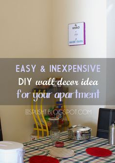 Spusht Chats: frugal DIY wall decorating idea for apartment