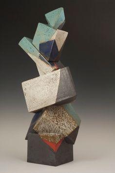 "Jeff Reich, Interwoven, glazed stoneware, 31.5 x 15 x 13"", 2010"