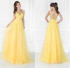 Sweetheart prom dress Charming Yellow Chiffon Prom Dress,Sexy Sweetheart Evening Dress,Beading Party Dress,Spaghetti Straps Party Dress