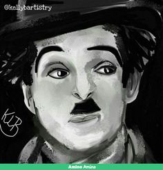 todays drawing idea from the 'What to draw'app was the silent movie star Charlie Chaplin.  So heres my digital painting.  #art #artist #drawing #sketching #painting #artrage #oilpaint #oilpainting #digital #digitalart #digitalpainting #digitalartist #silentmovie #moviestar #silentmoviestar #charliechaplin #slapstick #what2drawings #what2draw #whattodraw