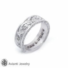 Ring, Band, Moissanite Band, Gentleman's wedding Band, Pave Moissanite Band,Wedding Band With Pave Moissanites,14kt Gold Band | MR01125
