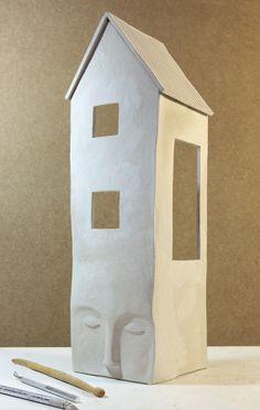 Inspiration - a quart milk carton, some clay or paper mache = a really interesting planter. Irma Gruenholz :: Ilustracion con Plastilina / Clay Illustration: New Book!