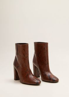 Snakeskin Boots, Brown Leather Ankle Boots, Sock Shoes, Shoe Boots, Calf Boots, Brown Boots Outfit, Ballerina Shoes, Me Too Shoes, Heeled Boots