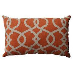 """Emory Lumbar Toss Pillow - Tangerine (11.5x18.5"""")"""
