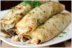crepesSavory crepes How to alleviate your digestion problems at home. Savory Crepes with Turkey, Mushroom and Swiss Cheese Menu Brunch, Chicken Crepes, Barbecue Chicken, Asian Chicken, Chicken Pizza, French Crepes, Pancakes And Bacon, Savory Crepes, Recipes