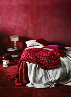 That wall is awesome!! Precious Jewels styling theme ... if ever a bedroom could hug you to sleep ...