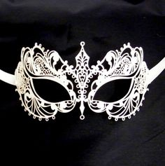 These luxury metal masks are the new generation for masquerade masks - ultra lightweight, delicate, flattering, easy to wear and just gorgeous,