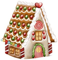 Transparent Gingerbread House PNG Clipart