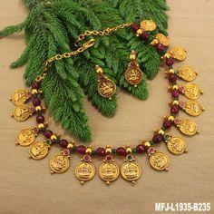 Gold Temple Jewellery, Silver Jewellery Indian, Gold Jewellery Design, Bead Jewellery, Handmade Jewellery, Kerala Jewellery, Silver Jewelry, Handmade Bracelets, Jewelry Box