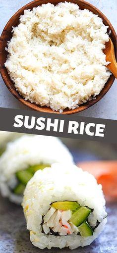 Best Sushi Rice, Sushi Rice Recipes, Homemade Sushi Rolls, Asian Recipes, Asian Foods, Easy Recipes, How To Make Sushi, Most Delicious Recipe, Tempura