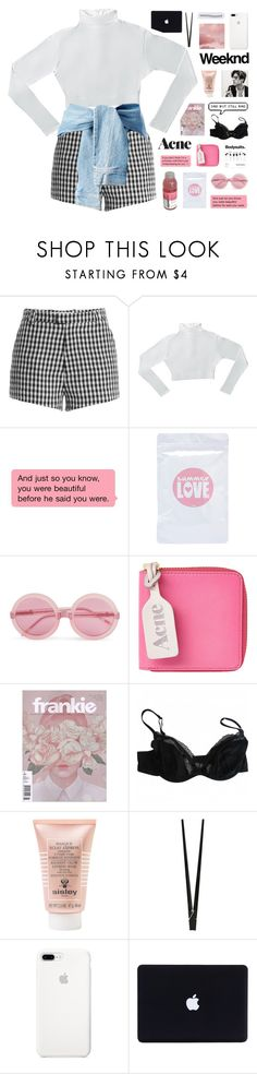 """my life is boring but you distract me"" by breniixii ❤ liked on Polyvore featuring Sandy Liang, Wildfox, Acne Studios, Princesse tam.tam, Sisley, CB2 and ETUÍ"