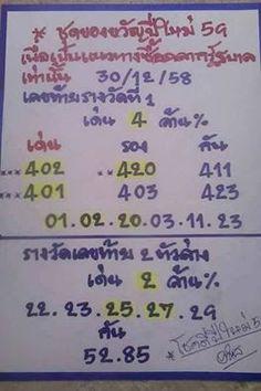 ใครที่รอคอย มาแล้ว ชุดของขวัญปีใหม่ ปี 59 !! ประจำวันที่ 30 ธันวาคม 2558 ~ ข่าว หวยไทยไทย