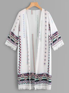 Search for kimono at ROMWE. Girls Fashion Clothes, Teen Fashion Outfits, Look Fashion, Hijab Fashion Summer, Muslim Fashion, Kimono Fashion, Stylish Dresses For Girls, Stylish Dress Designs, Mode Kimono
