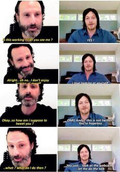 Andrew Lincoln and Norman Reedus. Seriously could they be any cuter??