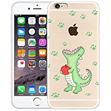 Mushy® Coque Arrière Etui Transparent Housse TPU Silicone Case Cover Ultra Mince Anti-Choc Cartoon Pattern Painting Cute Créatif pour iPhone 6/6S