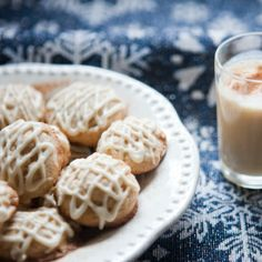 Eggnog Cookies are the perfect way to combine two Holiday Favorites this season!