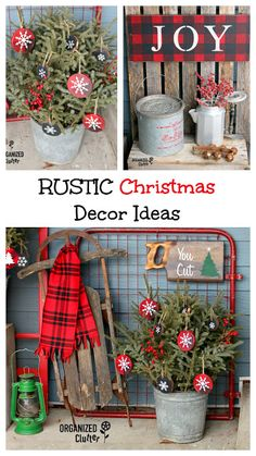 Today I'm sharing my junky rustic Christmas outdoor patio decor for It's like junk gardening, only it's winter, so there are. Outdoor Christmas, Country Christmas, Vintage Christmas, Primitive Christmas, Christmas Balls, Christmas Time, Christmas Ornaments, Christmas Ideas, Christmas Swags