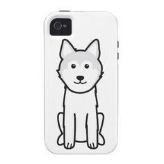 Icelandic Sheepdog Dog Cartoon Case-Mate iPhone 4 Case