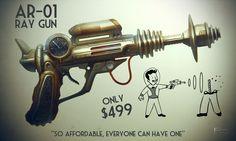 AR-01 Ray Gun #retrofuturism #futurism #rayguns