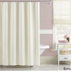 Extra long shower white cotton : Best shower curtain ideas