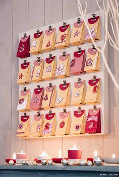 Noël Nature Vintage - Toile calendrier de l'Avent - Loisirs Créatifs Noël Nature Vintage - Cultura