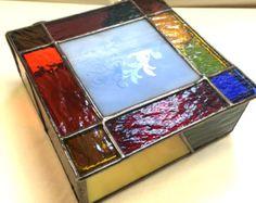 Contemporáneo con fusible vidrio manchado joyería por PeaceLuvGlass