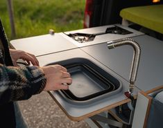 Volkswagen Caddy, Vw, Folding Bed Frame, Camper Van Kitchen, Mobile Architecture, Caddy Maxi, Van Living, Nesting Boxes, Rv Campers