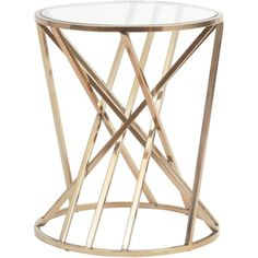 Twister Side Table (1.135 BRL) ❤ liked on Polyvore featuring home, furniture, tables, accent tables, decor, interior, glass lamp tables, glass end tables, glass furniture and glass table