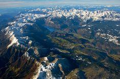 Today's #photo of the day is an #incredible aerial shot of Bohinj Basin in northwestern #Slovenia by Matevž Lenarčič