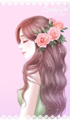 Cute Kawaii Girl, Cute Cartoon Girl, Cartoon Girl Drawing, Beautiful Fantasy Art, Beautiful Anime Girl, Walpapper Tumblr, Girly M, Cute Girl Wallpaper, Princess Drawings