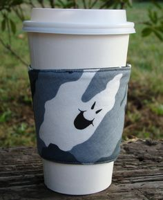 Ghost Camo Reusable Fabric Coffee Cozy by cozycabinmom on Etsy, $4.00