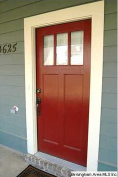 Love this front door. Color for the old house, style for the new house!