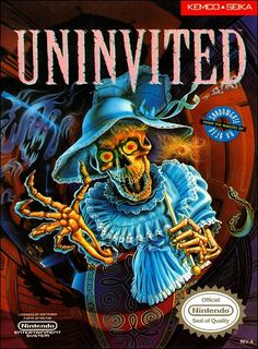 Buy Uninvited for the Original Nintendo NES. This classic game has been cleaned, tested, and is guaranteed to work. Retro Video Games, Video Game Art, Nes Games, Nintendo Games, Game Boy, Arcade, Playstation, Wolfenstein 3d, Dream Cast