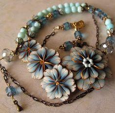 Polymer clay bead jewelry by Kim Detmers