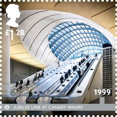 1999: Jubilee line at Canary Wharf. Designed by Sir Norman Foster, Canary Wharf Station is one of the most recent additions to the Underground network.