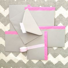 Painted envelopes #diy #showerinvitations