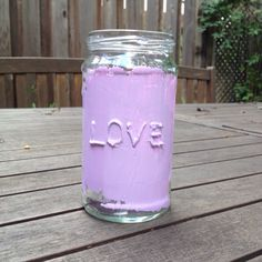 Make a Cute Painted LOVE Jar | Guidecentral
