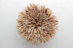 African Feather Headdress | Beige - Nickey · Kehoe