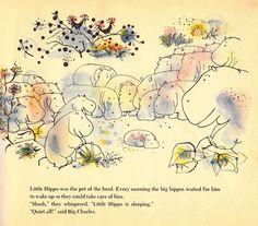 Rainey Bennet, The secret hiding place, (children's book illustration of hippo) Secret Hiding Places, Children's Book Illustration, Book Illustrations, Zoology, Love Book, Childrens Books, Vintage World Maps, Art Photography, Drawings