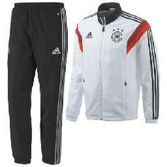 14-15 Germany Adidas Presentation Tracksuit White  $142.60