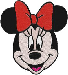Minnie Mouse Machine Embroidery Design -- 0023